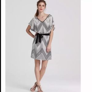 Trina Turk Silk Chevron Dress